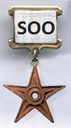 The WikiSOO Burba Badge reflects that its wearer has substantially improved a Wikipedia article, and made at least 200 edits to Wikipedia.