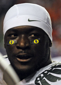 LeGarrette Blount, as photographed in 2009 by Alex McDougall.