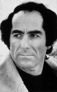 Black and white publicity photo of author Philip Roth in 1973