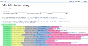 "The ""View History"" tab of any Wikipedia article is a vital tool in understanding how it has evolved."