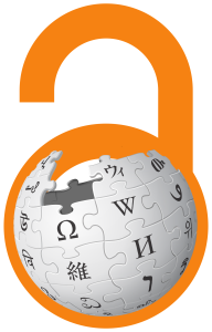 Wikipedia and Open Access: A good fit? (Logo montage licensed CC BY-SA. Wikipedia logo by Nohat (concept by Paullusmagnus); Wikimedia.