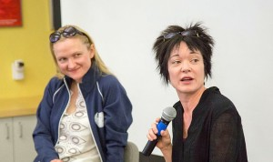 Former Wikimedia ED Sue Gardner (right) championed strong views about restricted grants and transparency. Have those values survived into the era of Lila Tretikov (left)? Photo by Victor Grigas, licensed CC BY-SA