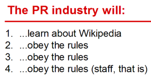 Summary of the four principles committed to by top PR industries in June 2014