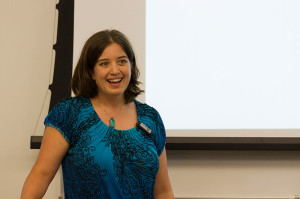 LiAnna Davis presenting at WikiConference USA 2014. Photo by Frank Schulenburg, CC-0 (no copyright restrictions)